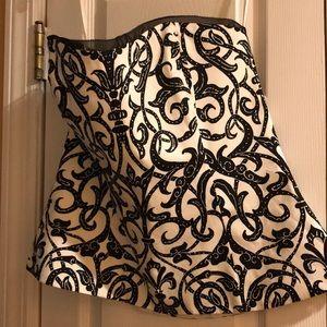 White House Black Market corset top